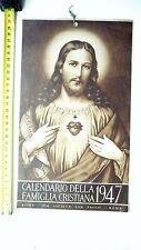 ANNO 1947 R@RO CALENDARIO FAMIGLIA CRISTIANA INTATTO/COMPLETO/BELLO