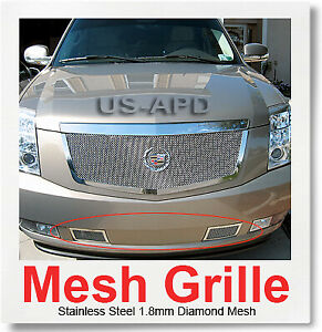 FOR 07-2011 Cadillac Escalade Bumper Stainless Mesh Grille