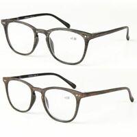 Women Men Classic Clear Lens Full Frame Magnetic Reading Glasses SALE +1.0~ D1V2