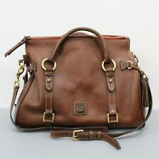 Dooney & Bourke Brown Leather Large Satchel Tote Bag