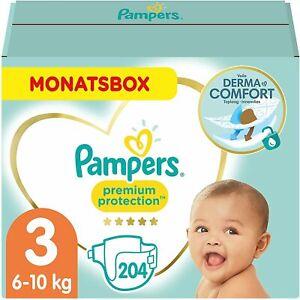 Pampers Pannolini per neonati, taglia 3, 6-10 kg, protezione premium 204