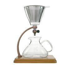 Yama Silverton Hot or Cold Coffee Dripper, Copper/Wood 18 oz.