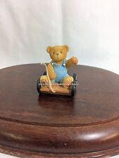 Cherished Teddies Tiny Treasured Bear In Wagon 2002 Nib