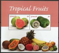 Grenada 2018 MNH Tropical Fruits Guava Soursop 2v S/S Fruit Nature Stamps