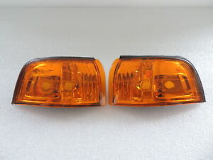 New Pair of JDM Look Amber Front Corner Lights For 1990-1991 90 91 Honda Accord