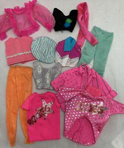 Vintage Mattel Barbie 80's Lot Clothes Dresses Tops Pants Jackets Skirts