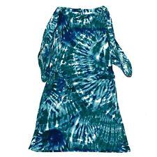 Tie-dye Calvin Klein dress XL Blue Green Midi