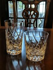 Mikasa English Garden Double Old Fashioned Glass or Highball Spiral floral cut
