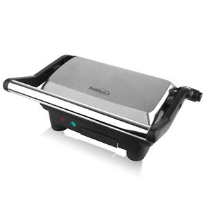 Premium 2 Slice Panini Press Grill Sandwich Maker Opens fully flat 180 degrees