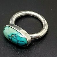 Sterling Silver 925 turquoise ring vintage size 8