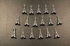 pour création bijoux: pendentif tour Eiffel lot de 17