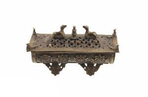 Brule Weihrauch Tibetischer Räuchergefäß Aus Kupfer Antik Mantra Astamangala 929