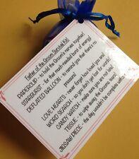 Father Of The Groom Survival Kit - Novelty favour gift Keepsake WeddingThank You
