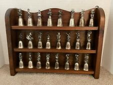 24 New England Collector's Society Beatrix Potter Silver Plate Miniature Bells