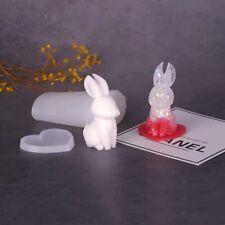 Bunny Silicone Resin Mold Epoxy Mold manual DIY craft 3D rabbit Mold