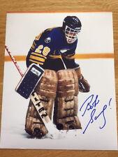 Buffalo Sabres Bob Sauve signed 8x10 W/COA pose 11