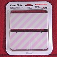 COVER PLATES Pink Stripe - New Nintendo 3DS ~ Brand New & Sealed