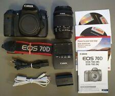 Canon EOS 70d, mit EF-S 18-55mm IS STM + Zubehörpaket, erst 17056 Ausl.  TOP !!!