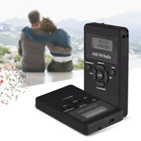 Mini Portable DAB DAB+ FM Radio Dual band Pocket Digital Receiver + Headphone JS
