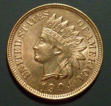 BU 1904 1/1 Indian Head Cent UNC Coin Snow 14 RPD n205