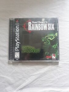 Tom Clancy's Rainbow Six (Sony PS1, 1999) Complete Black Label Playstation 1