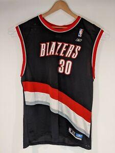 Vintage RASHEED WALLACE #30 NBA Portland Trailblazers Reebok Jersey Black XL