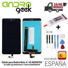 Pantalla LCD + TÁCTIL Xiaomi Redmi Note 4 / Note 4X MEDIATEK.Negra. Envio 24/48h