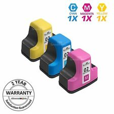 3PK COLOR Ink Set for HP02 HP 02 Cyan Magenta Yellow PhotoSmart 8250 3210xi 3310