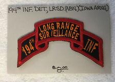194th Infantry Long Range Surveillance Patch