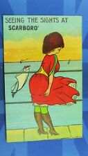 More details for scarborough saucy comic postcard 1911 silk stockings knickers seeing the sights