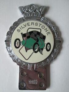 Silverstone Car badge. Motor club badge. J R Gaunt badge. Silverstone.