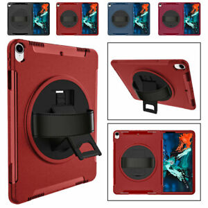 For iPad 7 8th 10.2 6 5th 9.7 Air 3 Pro 234 Shockproof 360 Rotating Strap Case