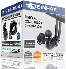 ATTELAGE fixe BMW X3 E83 2004-2010+FAISC.UNIV.7-broches COMPLET