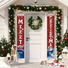 """Merry Christmas Banner Door Decoration Dormitory Banner Flag Sign 11.8"""" x 70.8"""""""