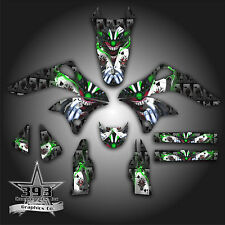 KAWASAKI KX250F KXF 250 2006 - 2008 GRAPHICS KIT DECALS EVIL JOKER BLACK GREEN