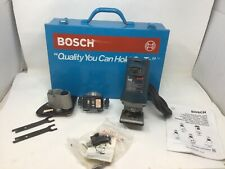 Bosch Laminate Formica Trimmer Model 1608 2 Extra Bases In Case Tested. NICE!