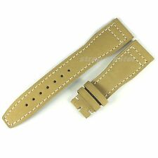 22mm Light Brown Suede Leather Strap Band for IWC Big Top Gun / Pilot Watch Mens
