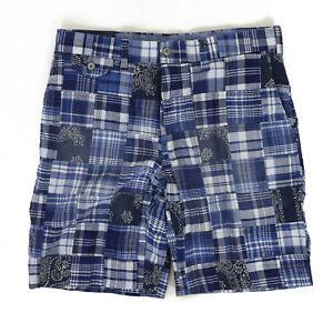 "Polo Ralph Lauren Classic Fit 9"" Patchwork Patch Shorts - Blue/Navy"