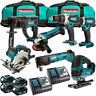 Makita MAK7PC 18V Li-ion 7 Piece Combo Tool Kit with 4 x 5.0Ah Batteries Charger