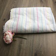 Candy Stripe Vintage Single Flannelette Flat Sheet