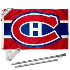 Montreal Canadiens Flag Pole and Bracket Kit