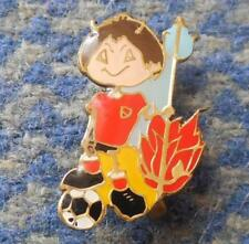 AMERICA CALI COLOMBIA FOOTBALL SOCCER 1980's RED DEVILS MASCOT PIN BADGE