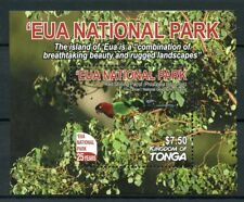 Tonga 2017 MNH Eua National Park Parks 25 Years 1v M/S Parrots Birds Stamps