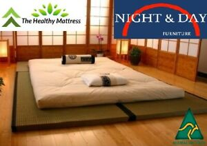 Australian Made Kobe Futon mattress Single 6 inch 15 cm 4 colours full cotton