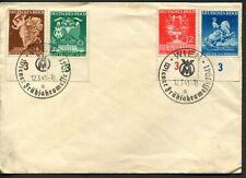 GERMANY - 1941 'VIENNA FAIR'  Plate Set + Commem Postmarks VFU [B4038]