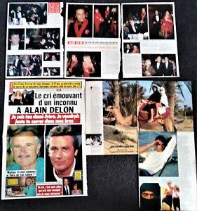 Alain Delon magazine clippings + Anthony Delon