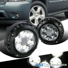 07-14 GMC Chevy Suburban Tahoe Clear LED Fog Lights Driving Bumper Lamps