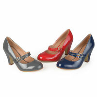 Journee Collection Womens Mary Jane Patent Leather Pumps New