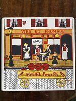 MID-CENTURY GEORGES BRIARD FRENCH CAFE ENAMEL METAL TILE TRIVET/COASTER