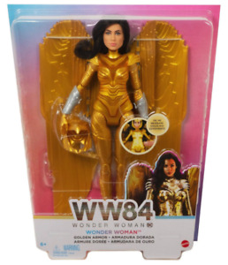 SHIPS FAST FREE!!! New in Box!! DC Wonder Woman 1984 Movie Doll [Golden Armor]